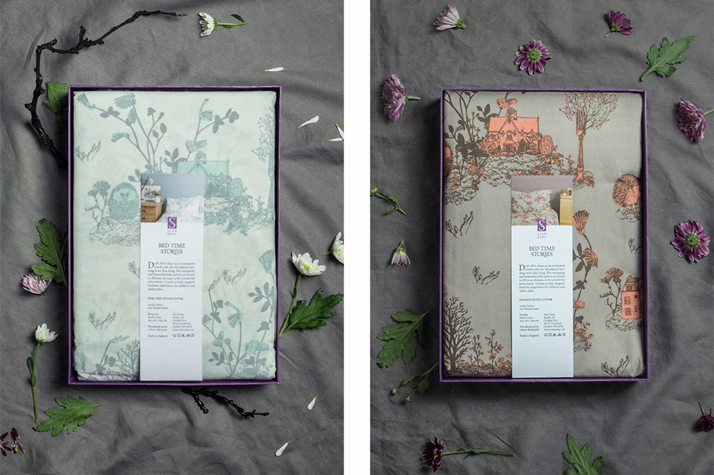Sian Zeng Bed linen packaging on Behance