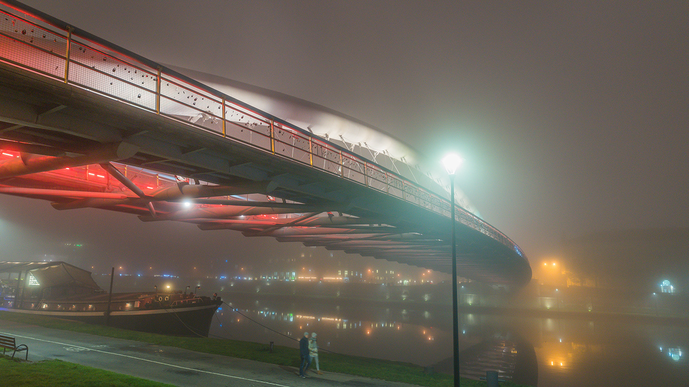 Image may contain: sky, fog and plane