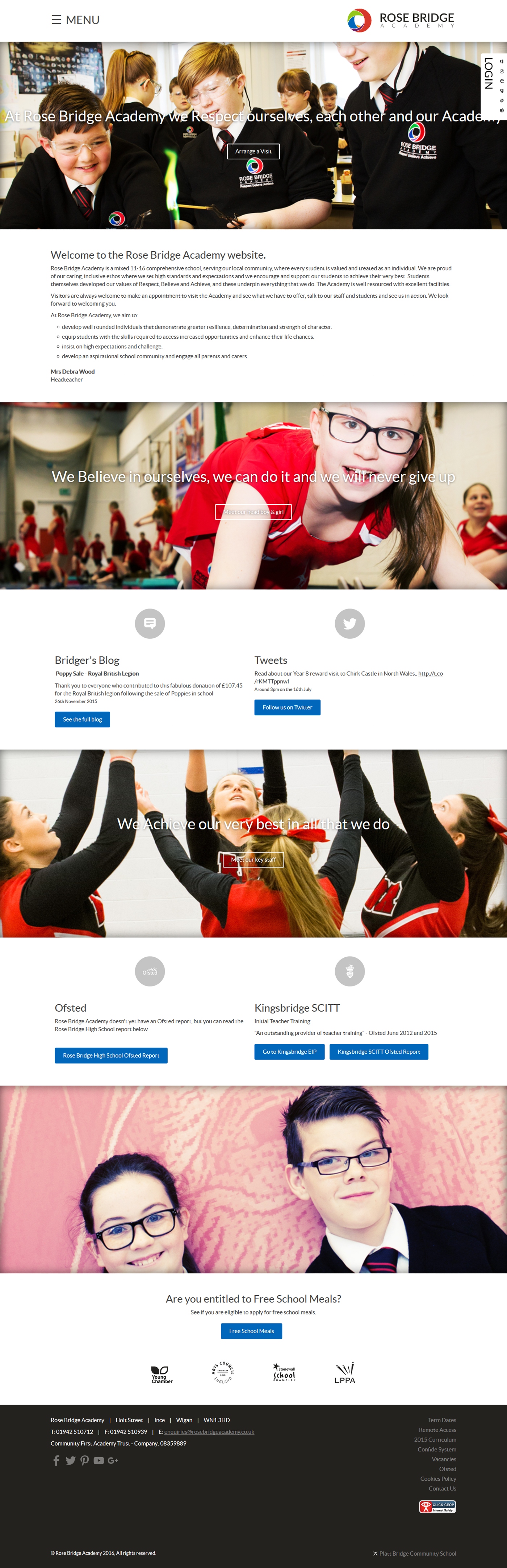 High School school Education Web Design  Website parallax college primary school