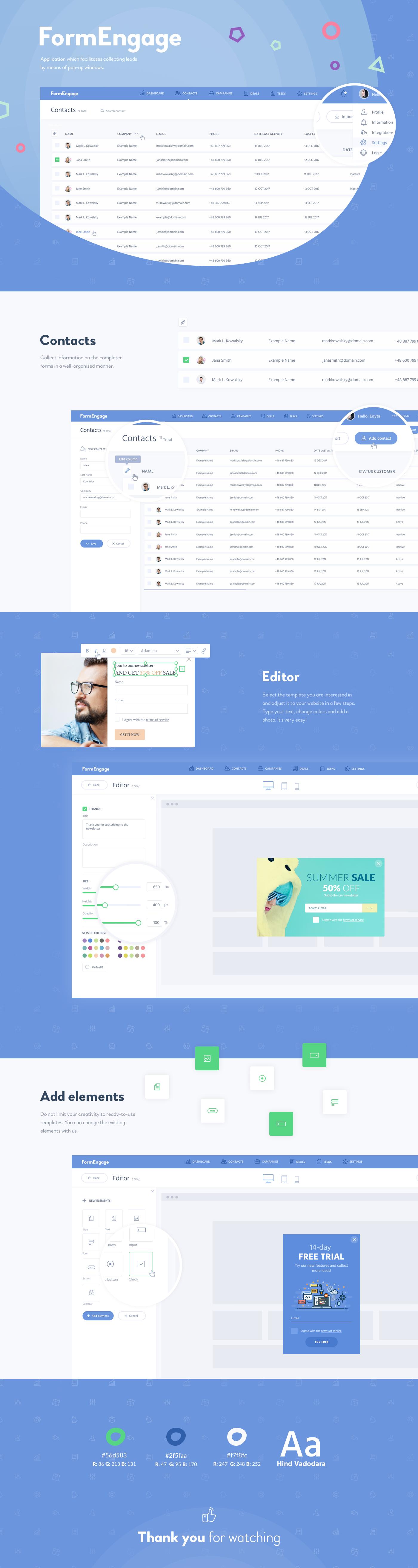 app aplication www webiste Project pop-up dashboard UI ux