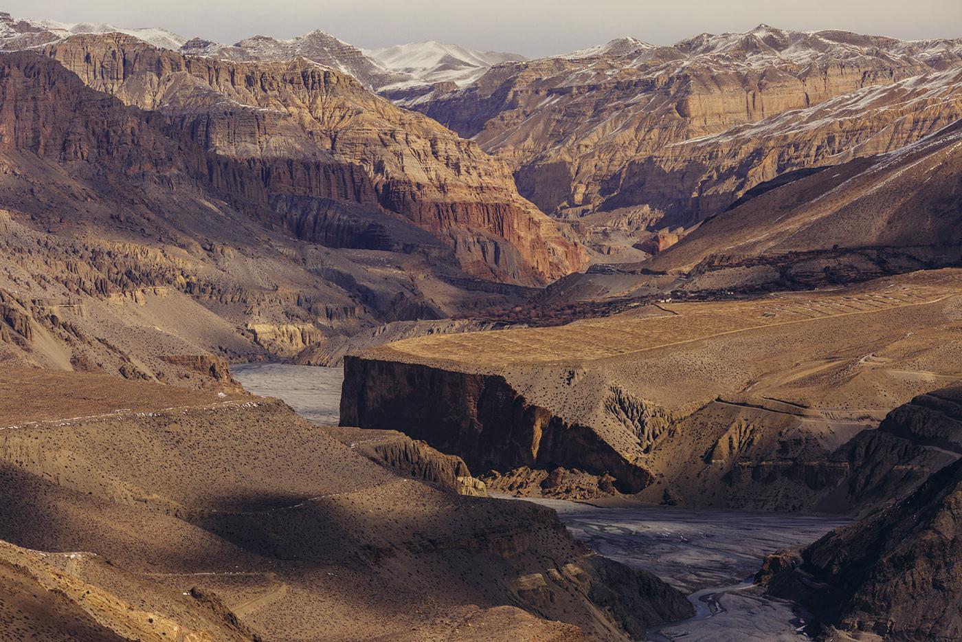 Valley of the Kali Gandaki River, Lower Nepal, Kingdom of Mustang, Himalayas