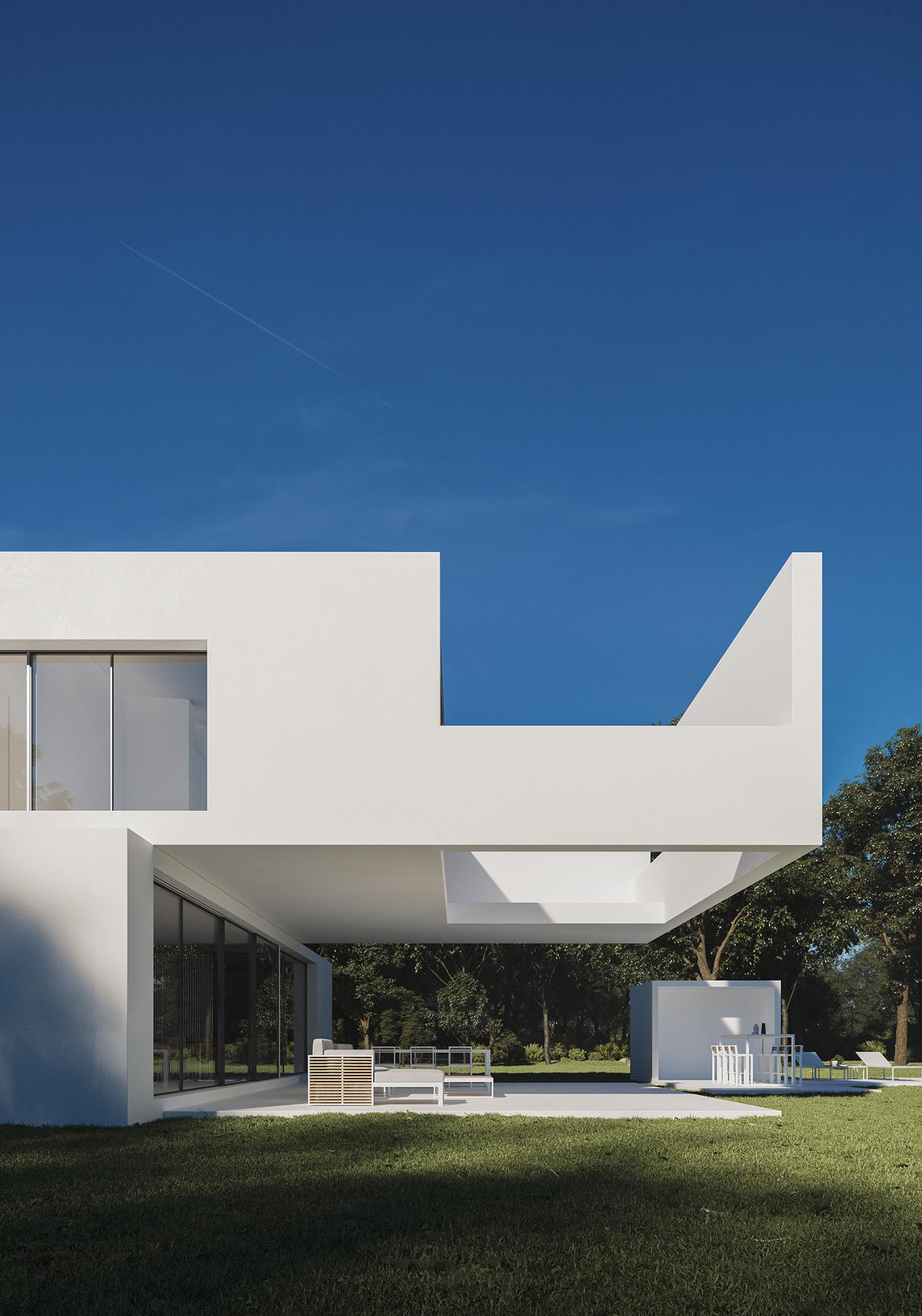 3D architecture archviz CGI design Minimalism Render visualization
