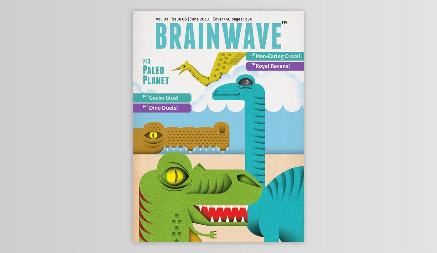children collage digital ILLUSTRATION  infographics magazine mixed media science