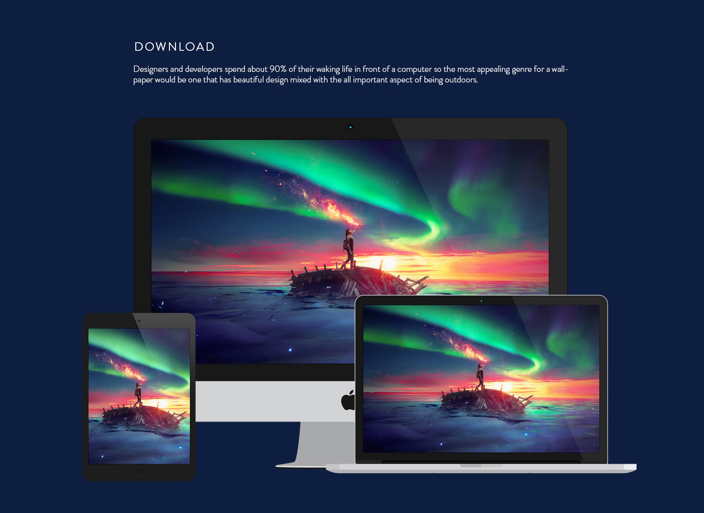 Karim Fakhoury Montreal Canada Ancient Future desktopography wallpaper aurora Space