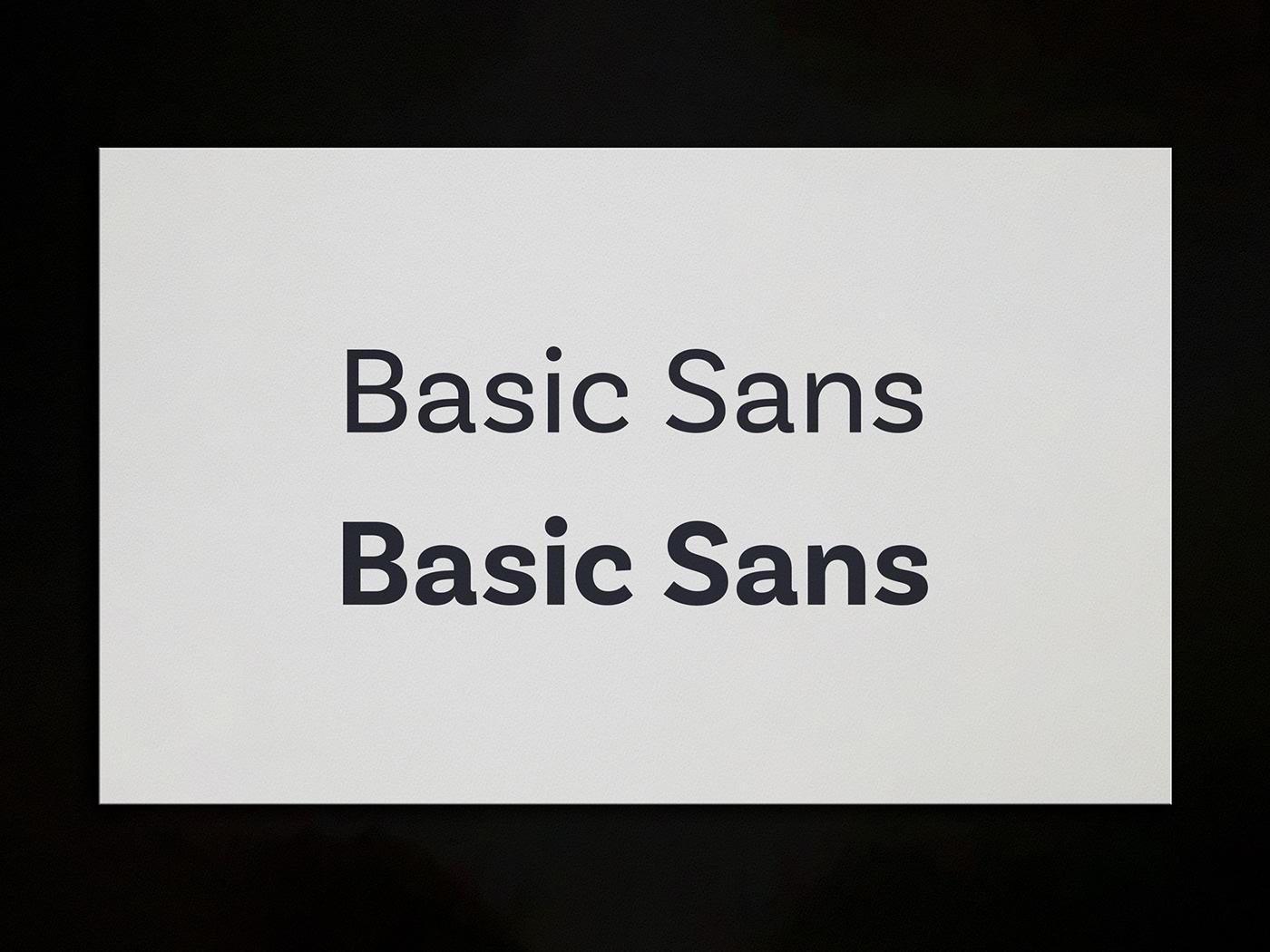 typeface used: basic sans