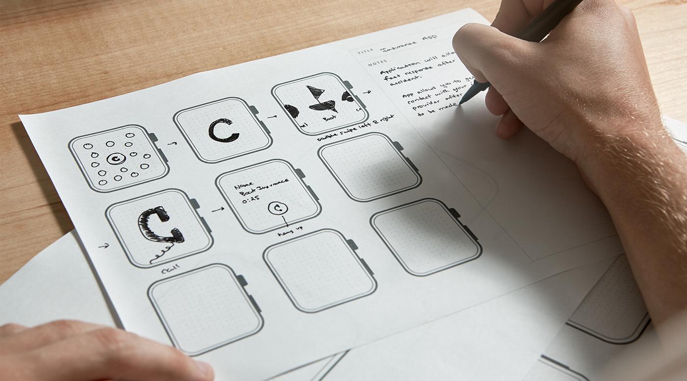 printable ui prototypes for apple on behance