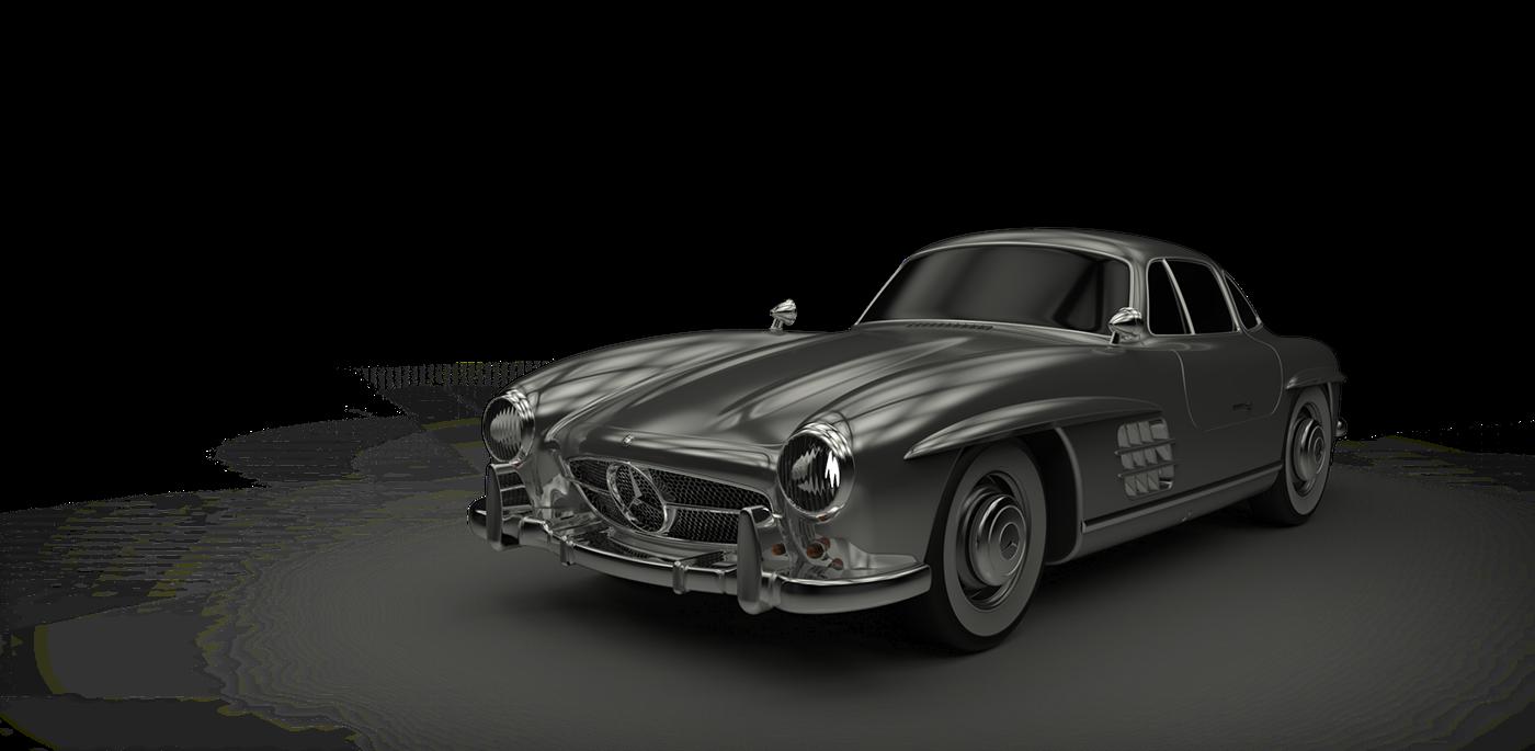 300SL Old car Benz Alias keyshot 3D 3dmodeling