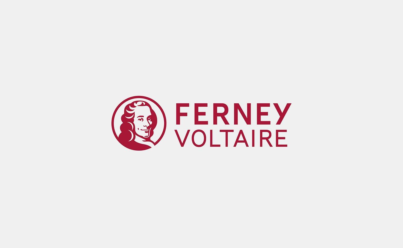 branding  circle city france Icon logo territory Voltaire portrait swiss