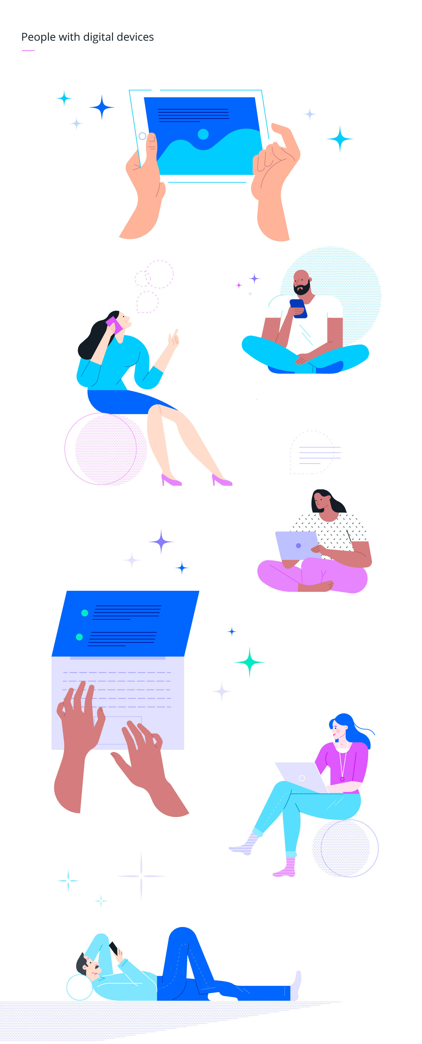 Rebrand Office family friends branding  flat vector Character digital business