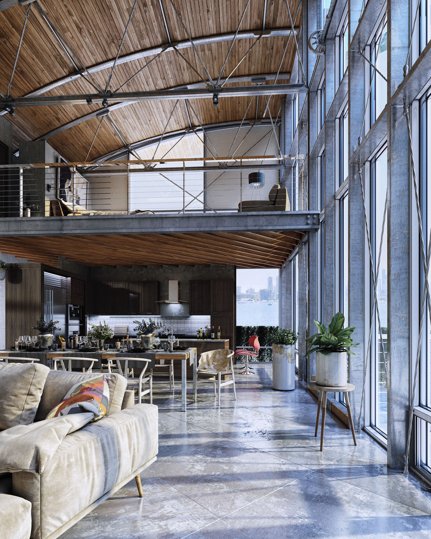 Industrial Home Design Spectacular Modern Industrial Home: INDUSTRIAL LOFT HOUSE On Behance