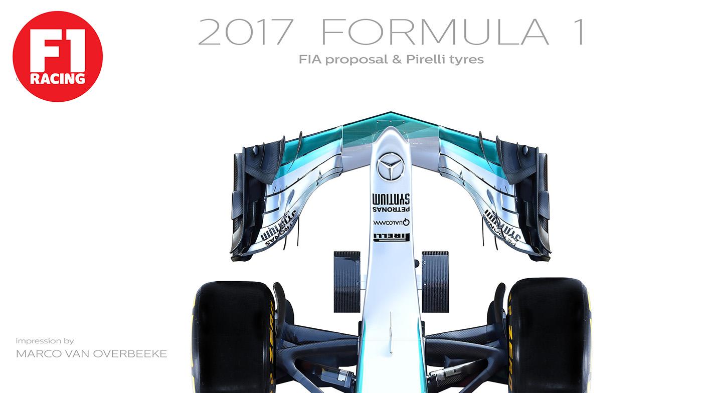 f1 formula mercedes AMG PETRONAS regulations pirelli michelin concept Render
