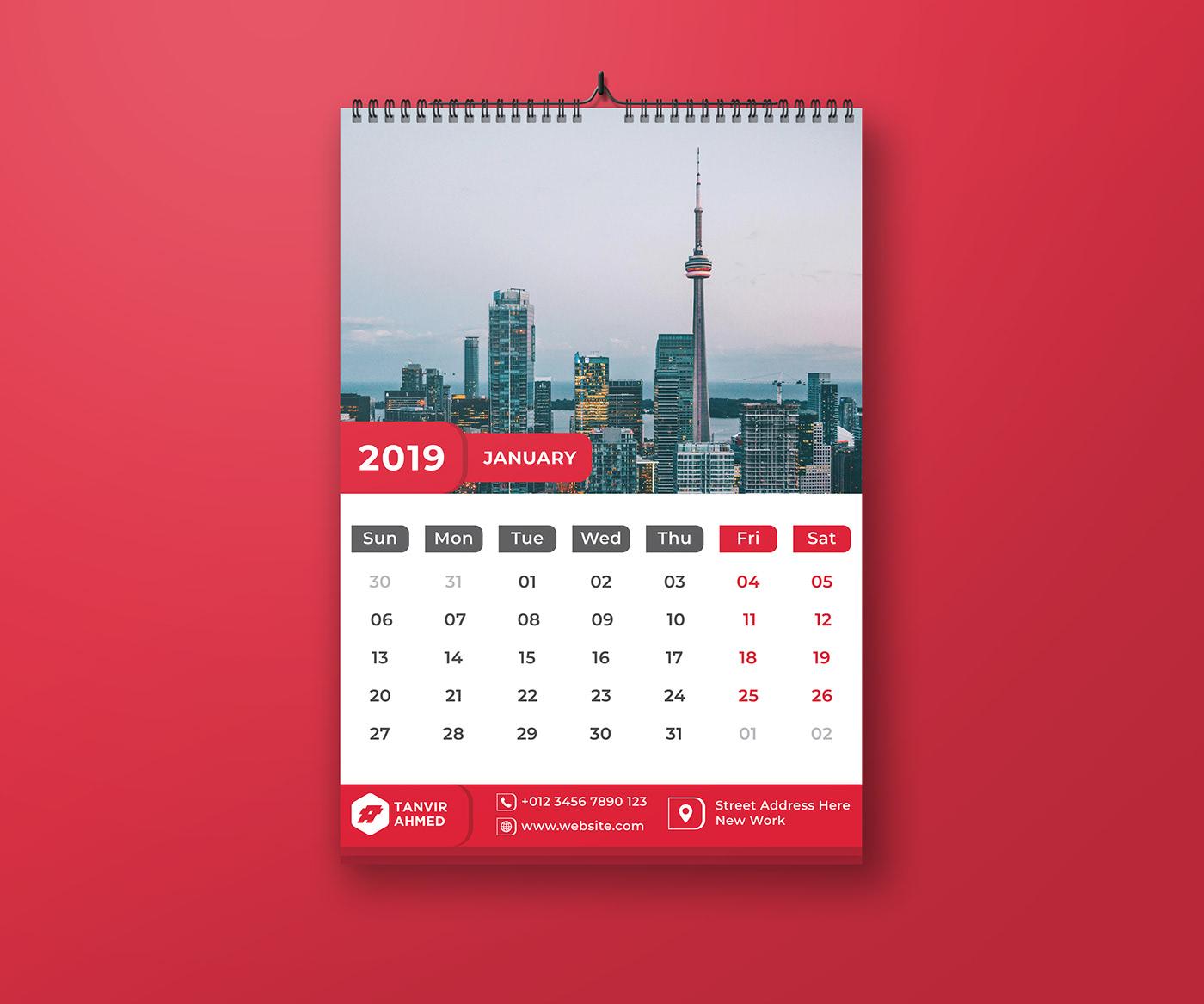 有獨特感的36個月曆設計欣賞