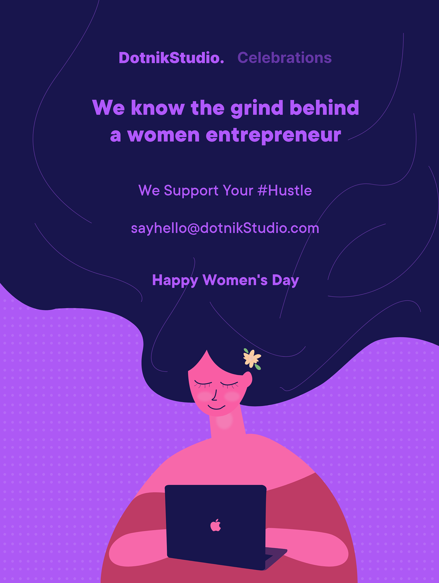 Happy Women's Day Illustration Cover -  Dotnik Studio Celebrations