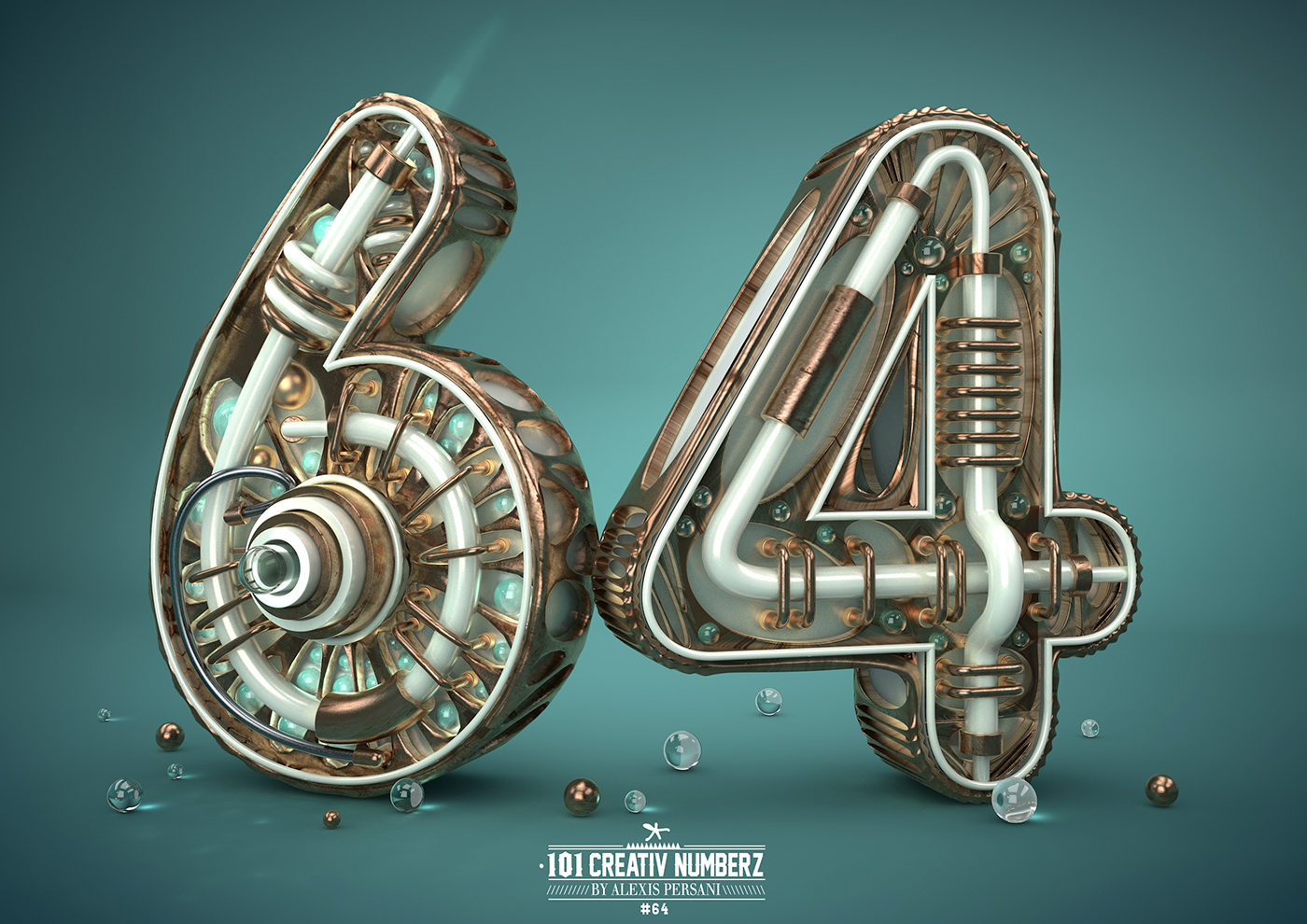 Outstanding 101 Creative Numbers Typography by Alexis Persani 59