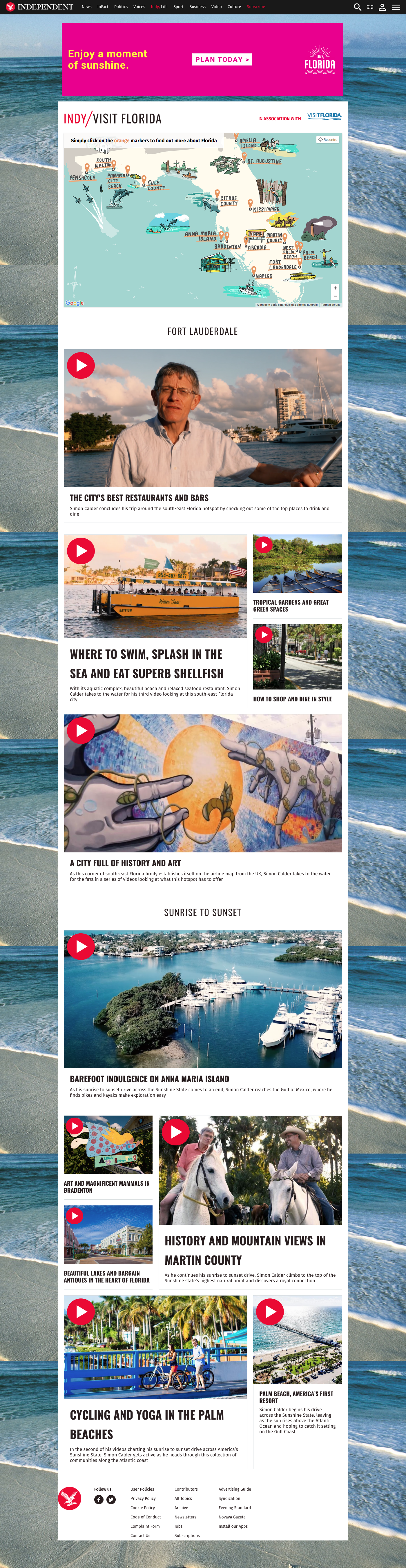 Independent brand partnership interactive map Travel