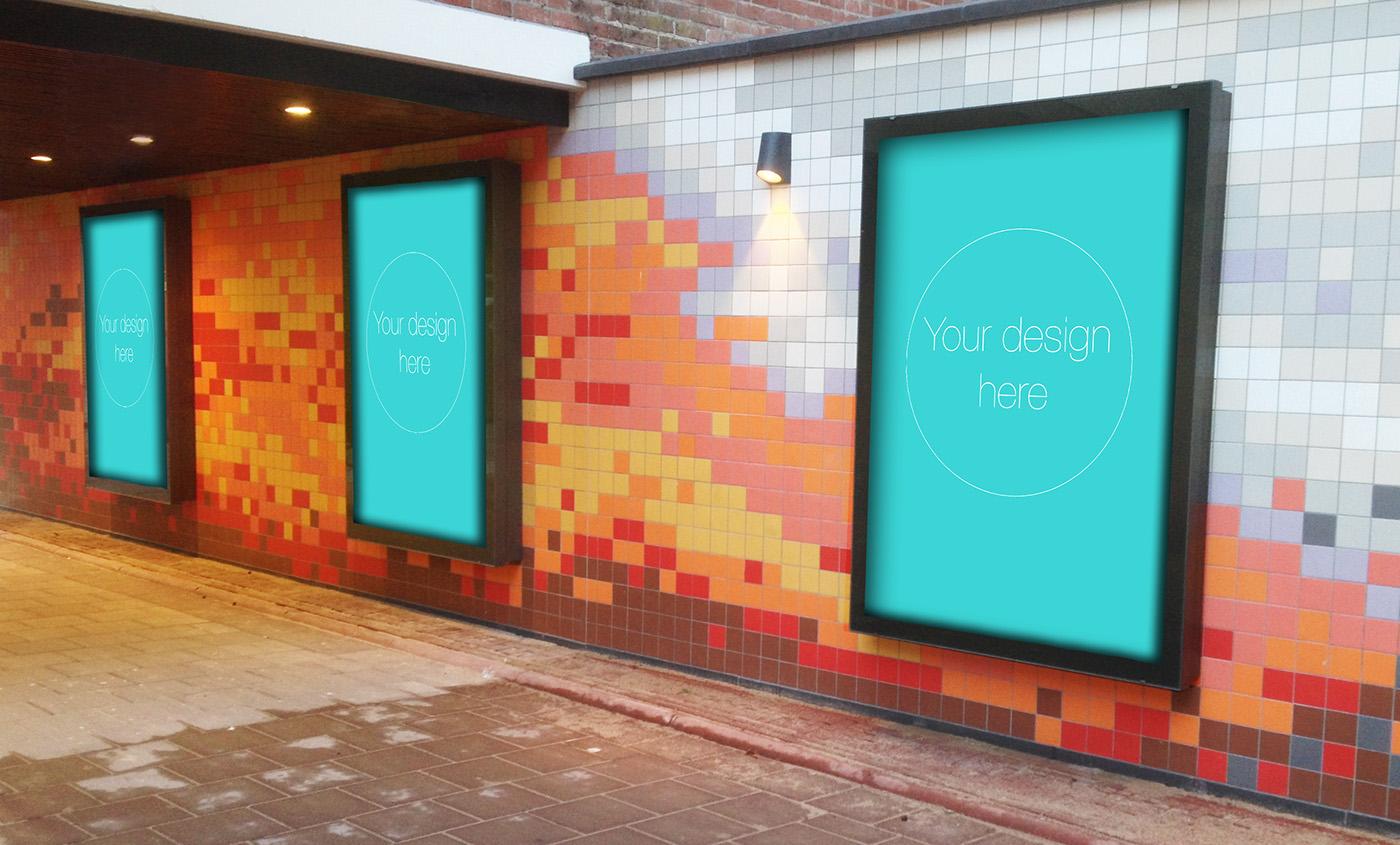 mock-up poster design free freebie abri large Collection mock up tibor brink