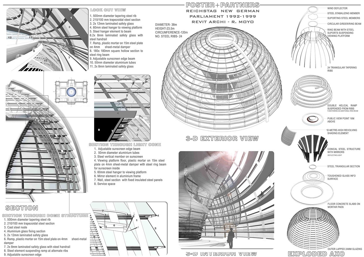 Reichstag Dome Structural Exploration on Behance