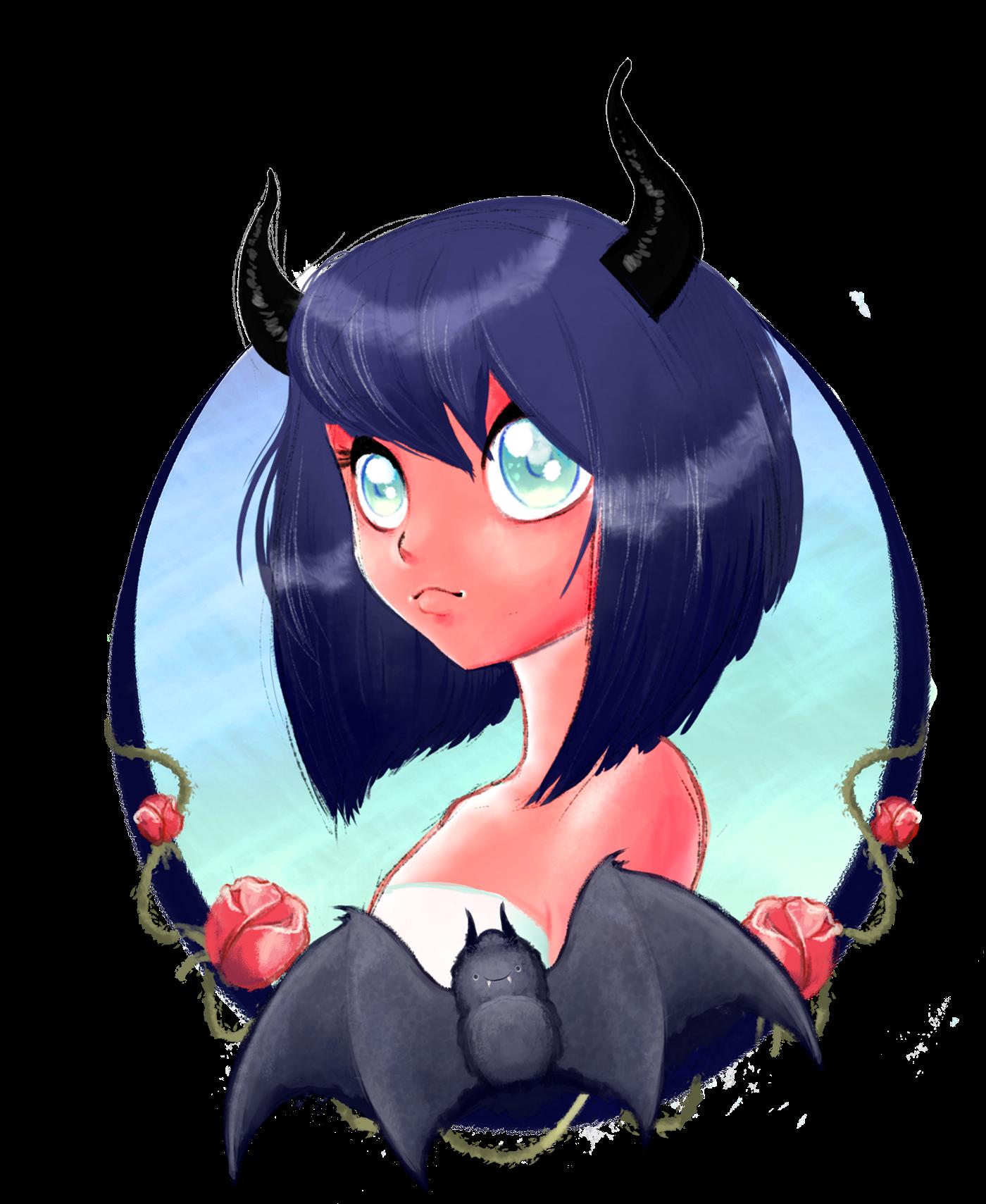 Anime Demon girl on Behance