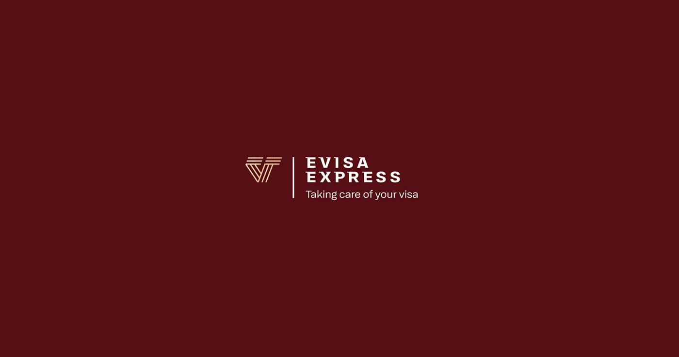 Visa evisa red branding key visual poland Gliwice Mateusz Pałka Michał Dobies Travel v letter