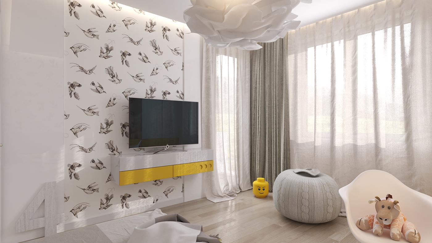 Une chambre d 39 enfant claire et pur e envie 2 deco boutique et blog de d coration - Meisje kamer sfeer ...