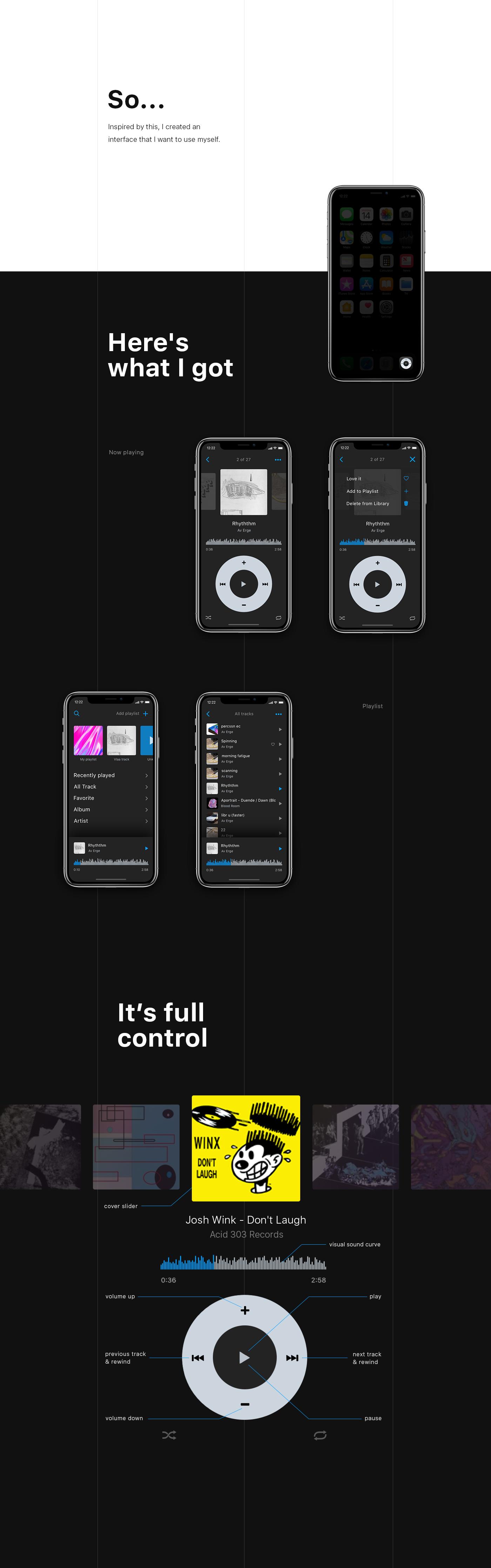 ios mobile player apple app sketch UI ux ipod Vlasuhiro