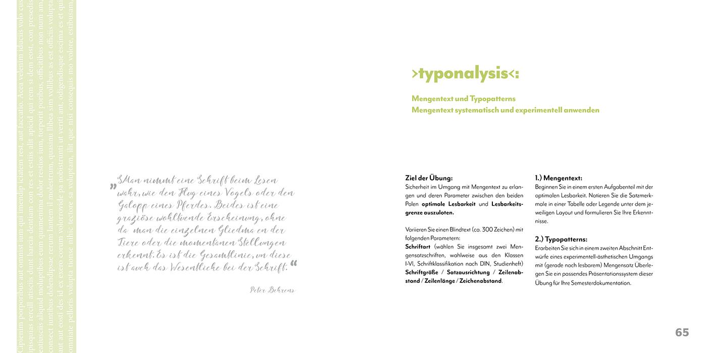 Typo 1 Semesterdokumentation 2. Semester on Behance