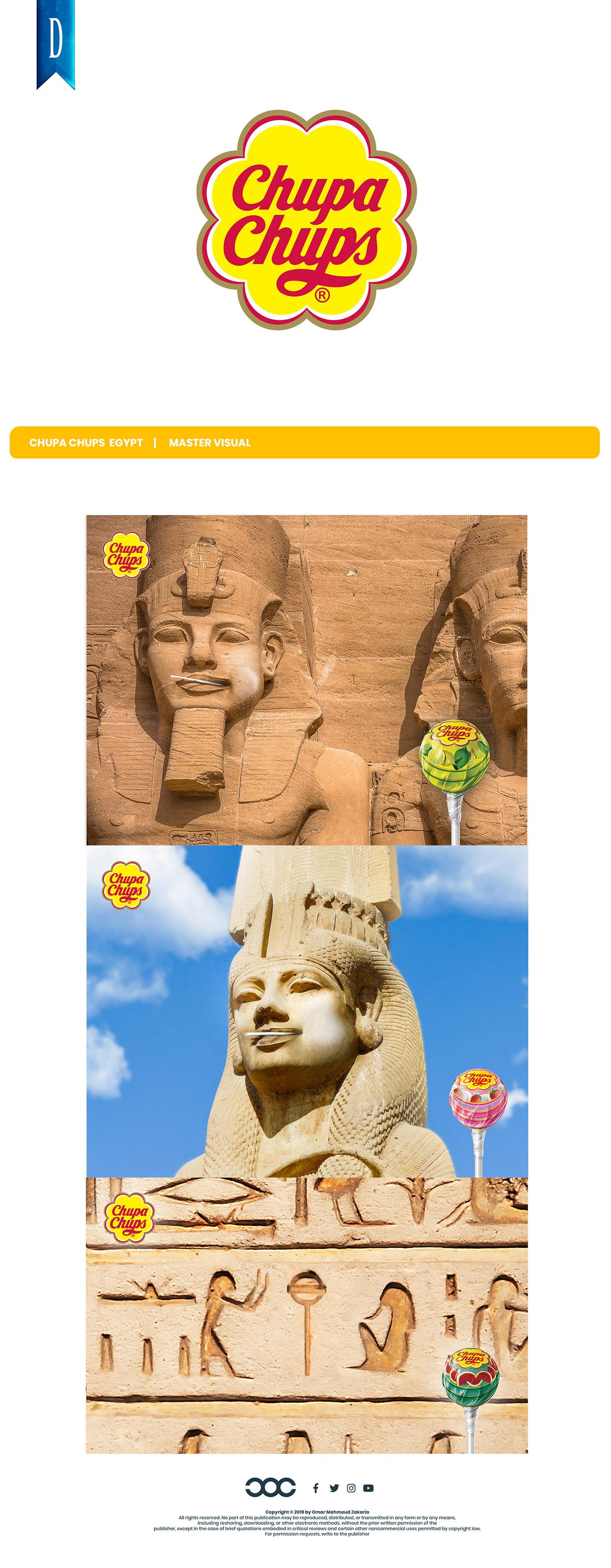 chupa chups lollipop egypt luxor aswan history creative design Love social media