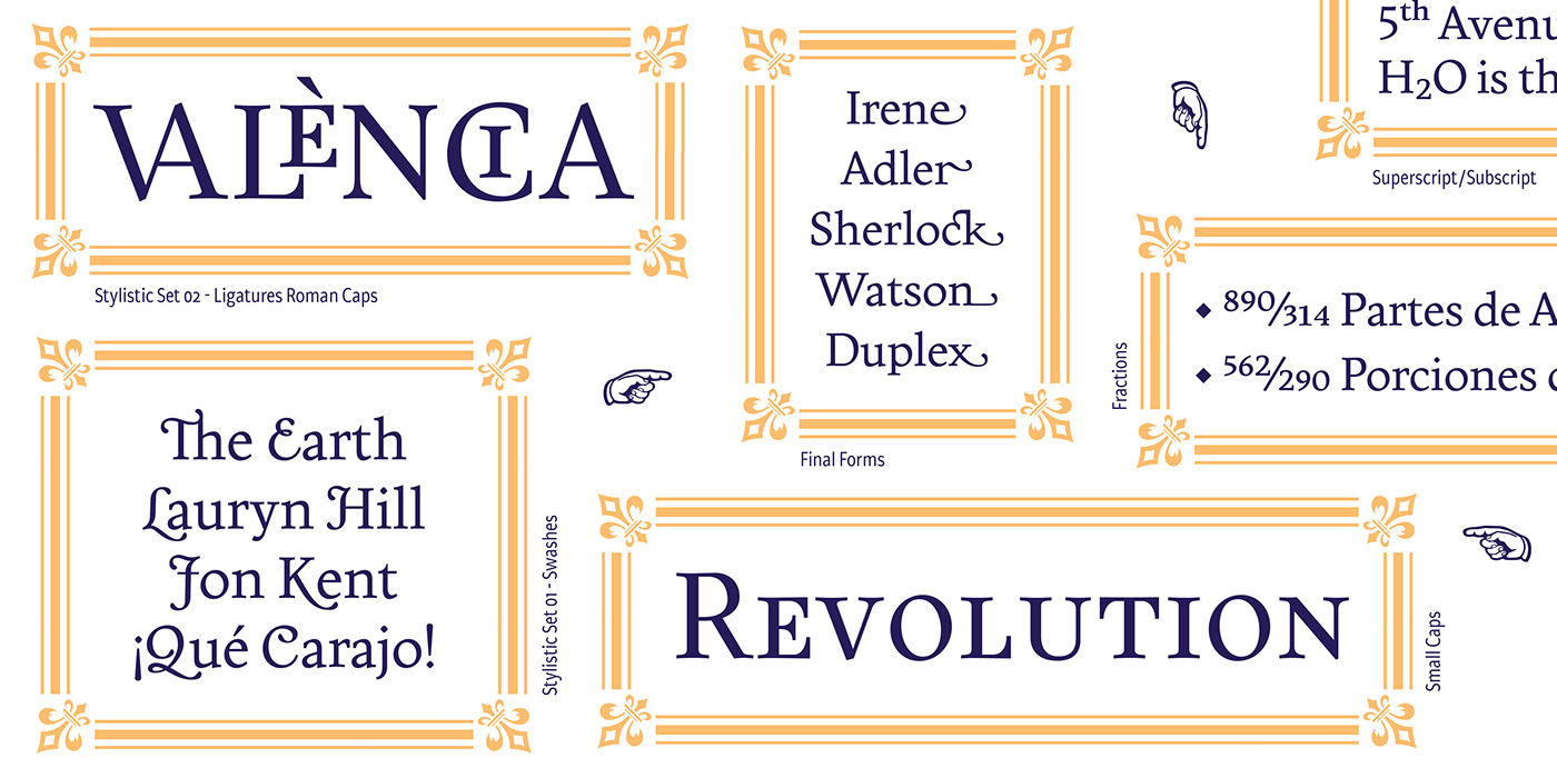 Display font Headline Humanist Opentype text Typeface