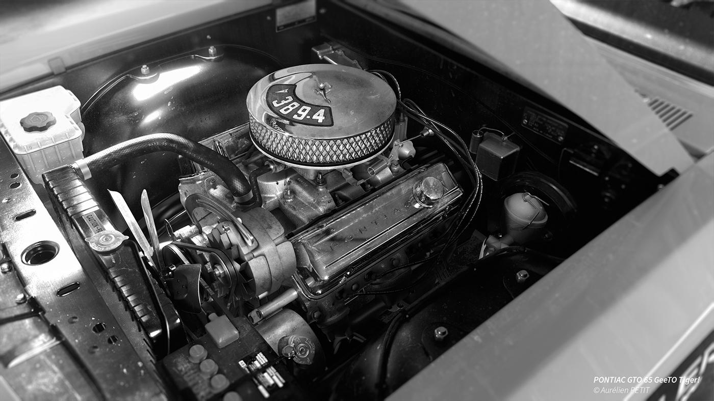 Pontiac gto v8 389 4 engine on behance publicscrutiny Images