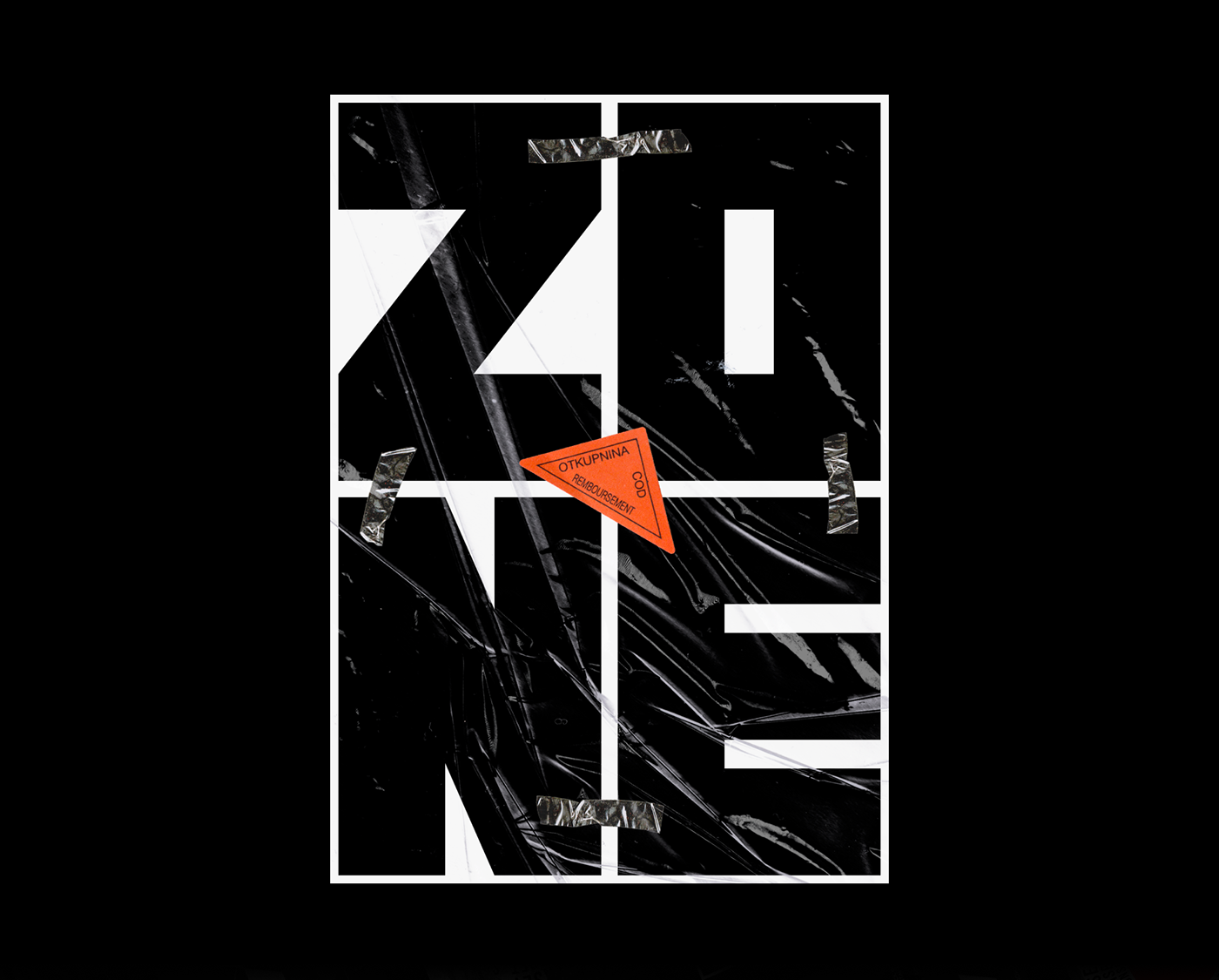 Brutalism dark experimental minimal motion poster posters techno type typography