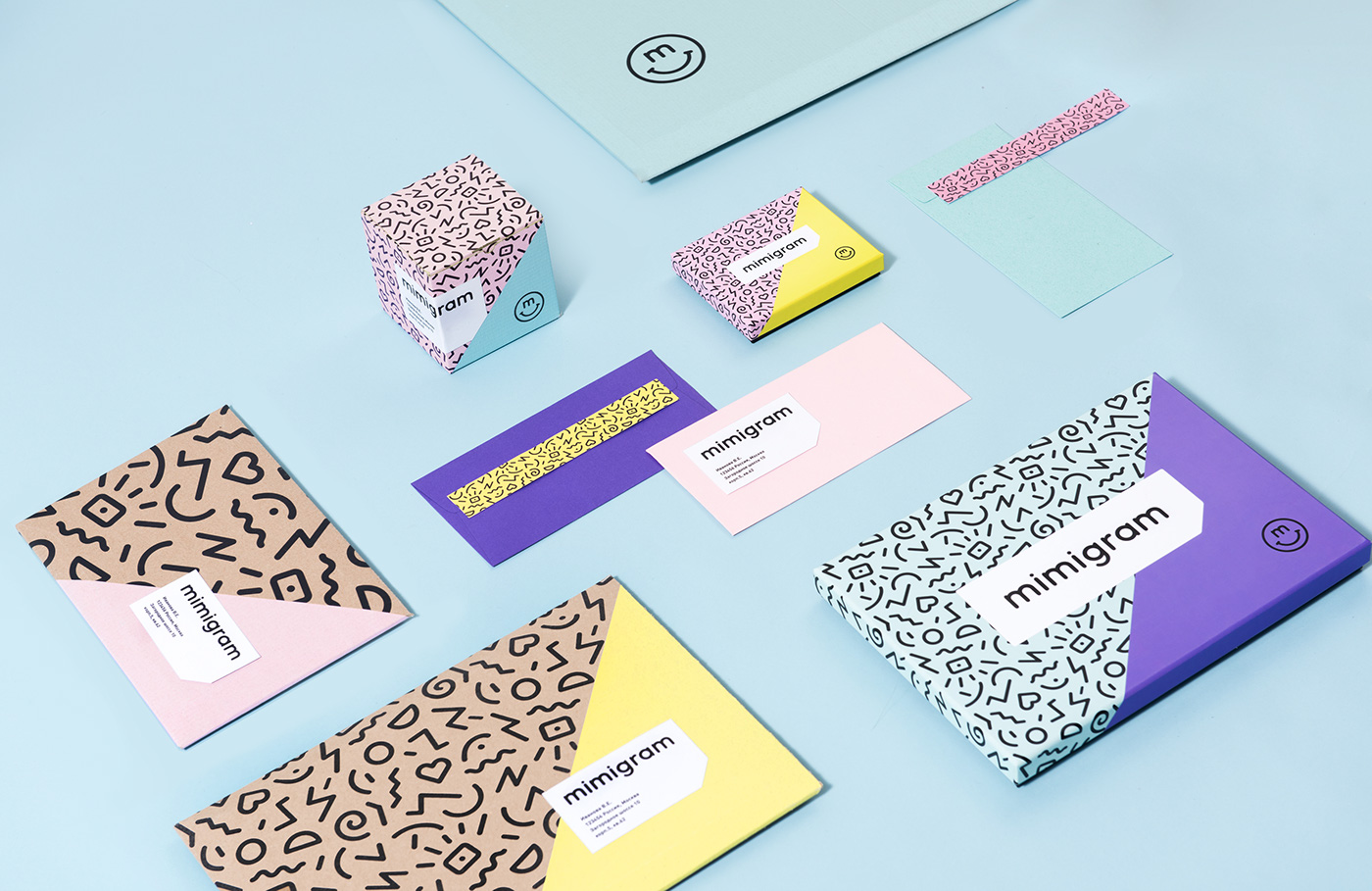 craft Memphis identity branding  smile color instagramm Appdesign application package