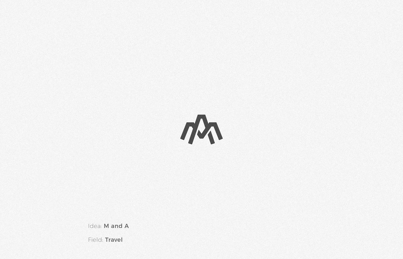 M & A monogram logo design by Anh Do - Anhdodes
