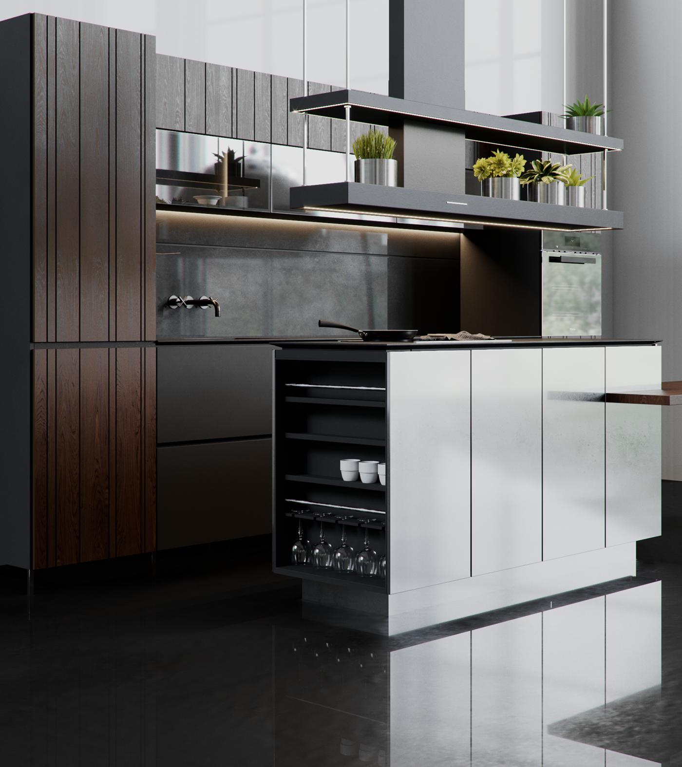 Kitchen furniture Design on Behance