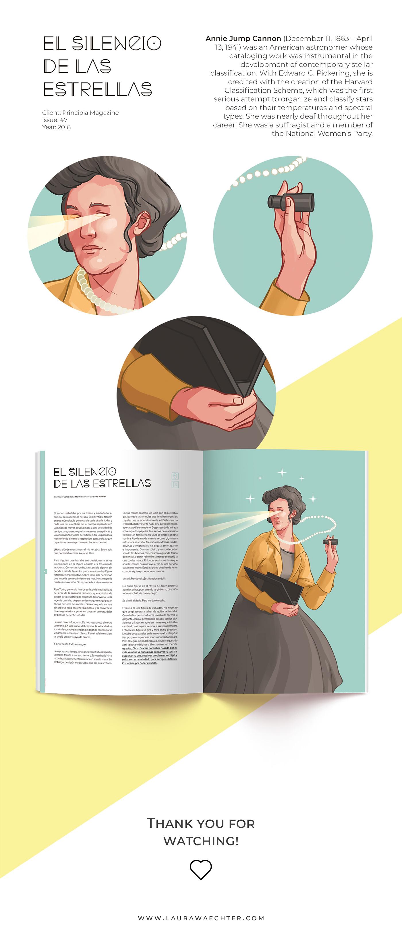 ILLUSTRATION  magazine Editorial Illustration Principia scientific pastel press editorial design