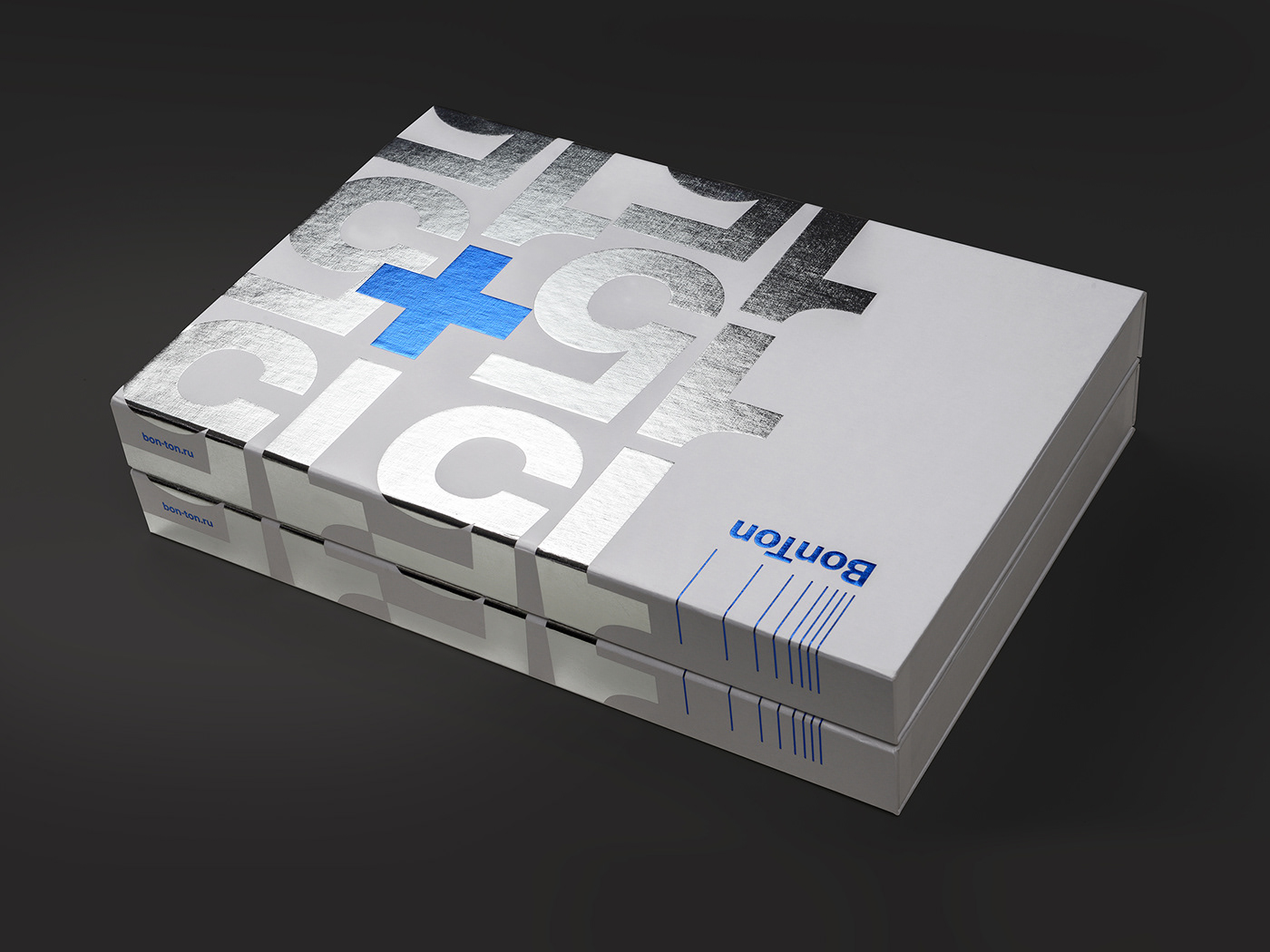 branding  foil Packaging silver gift