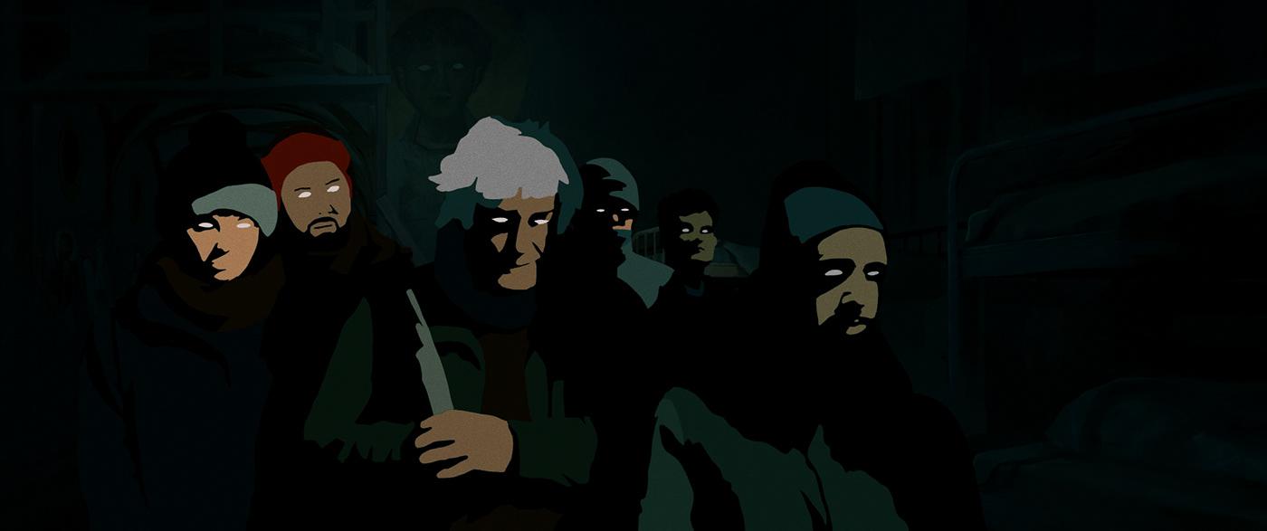 vilnius short rotoscoping Cinema art animated War survival city lithuania