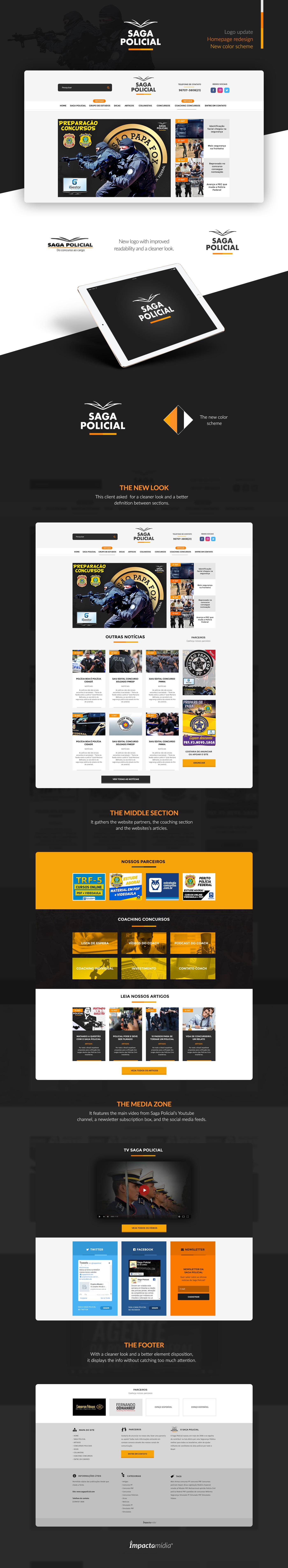 police Web Web Design  Webdesign dark orange logo design orange and black