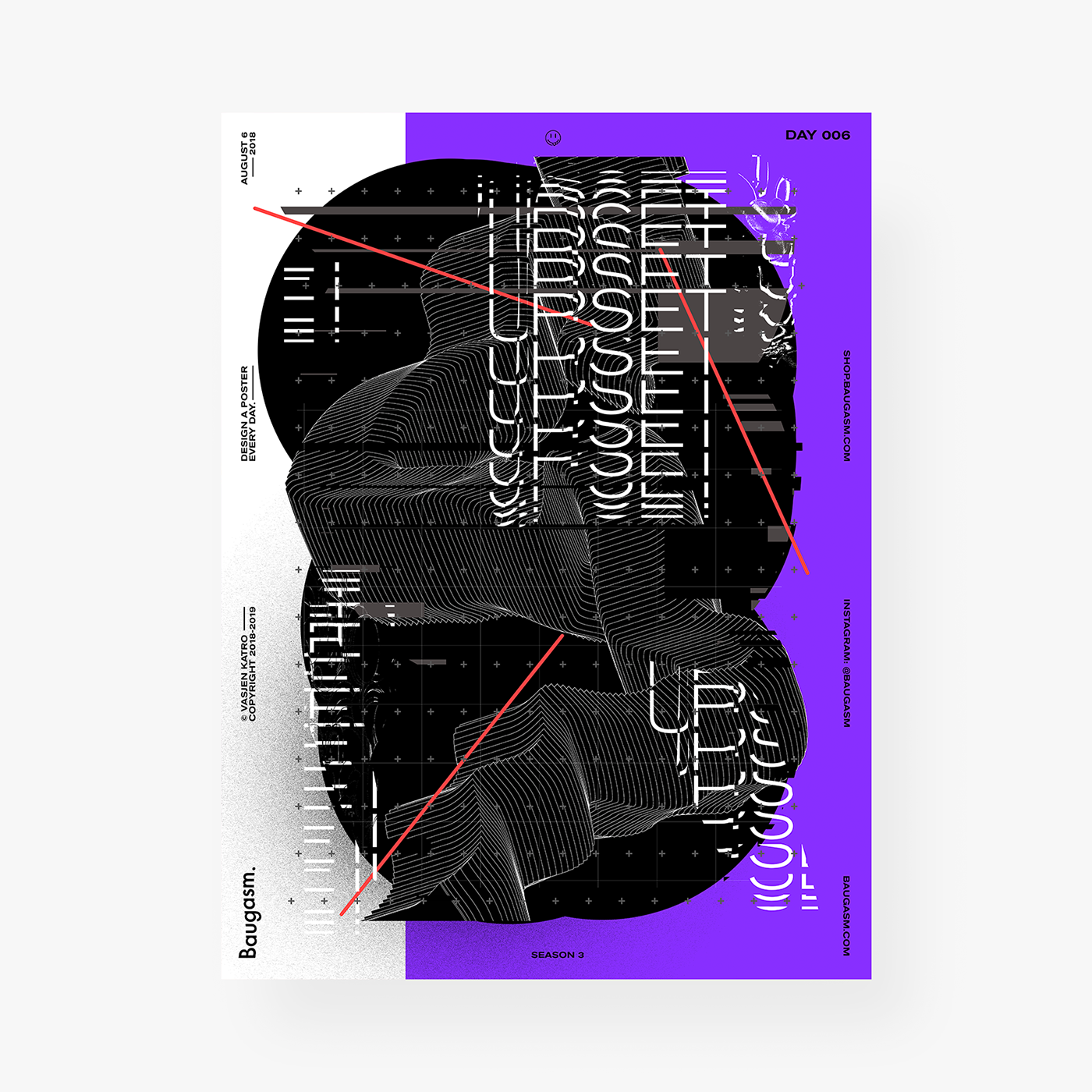 poster gradient Baugasm graphic design  abstract posters daily typography