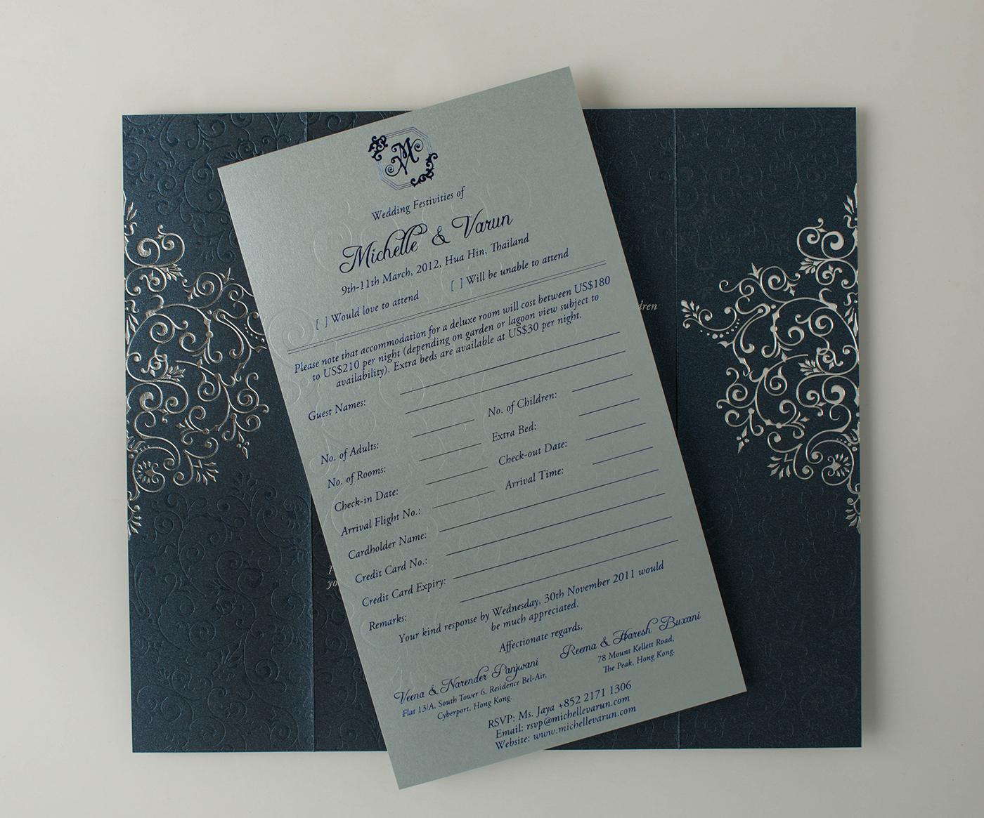 Wedding Invitation Michelle Varun On Behance
