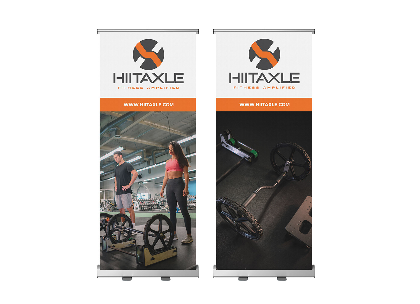 Tradeshow retractable banners for HIITAXLE