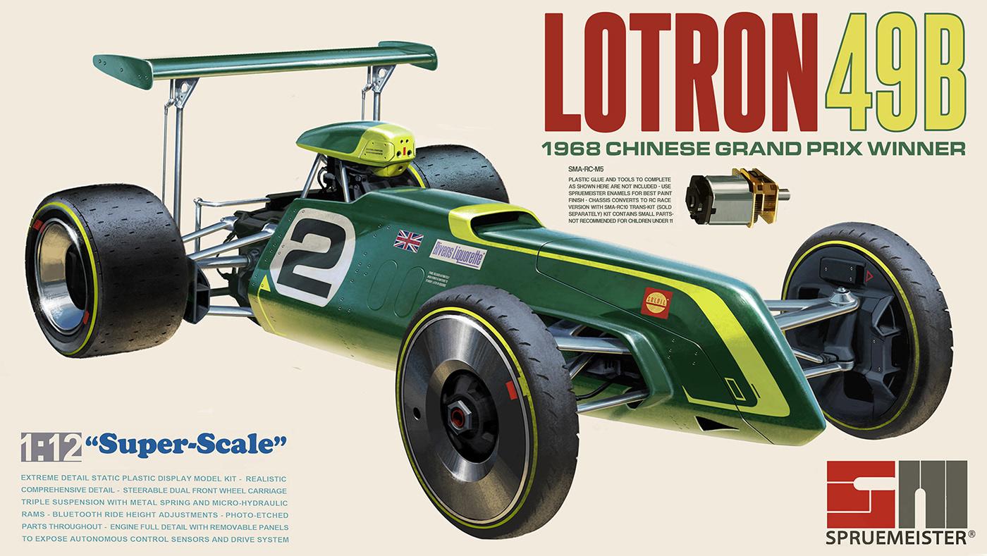 Spruemeister model box art series  Autonomous Racing  on Behance