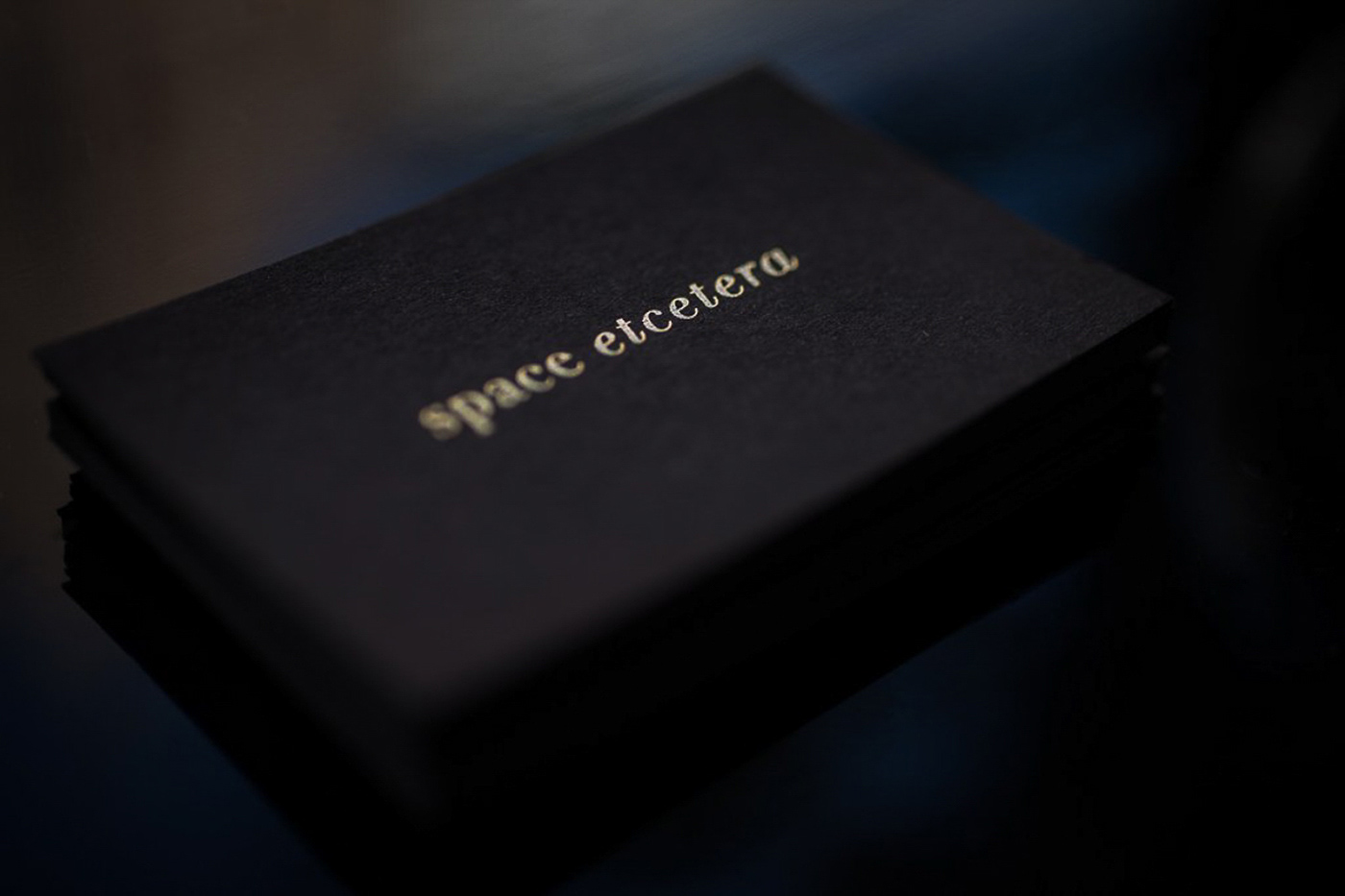 card Corporate Identity hotfoil less is more sign