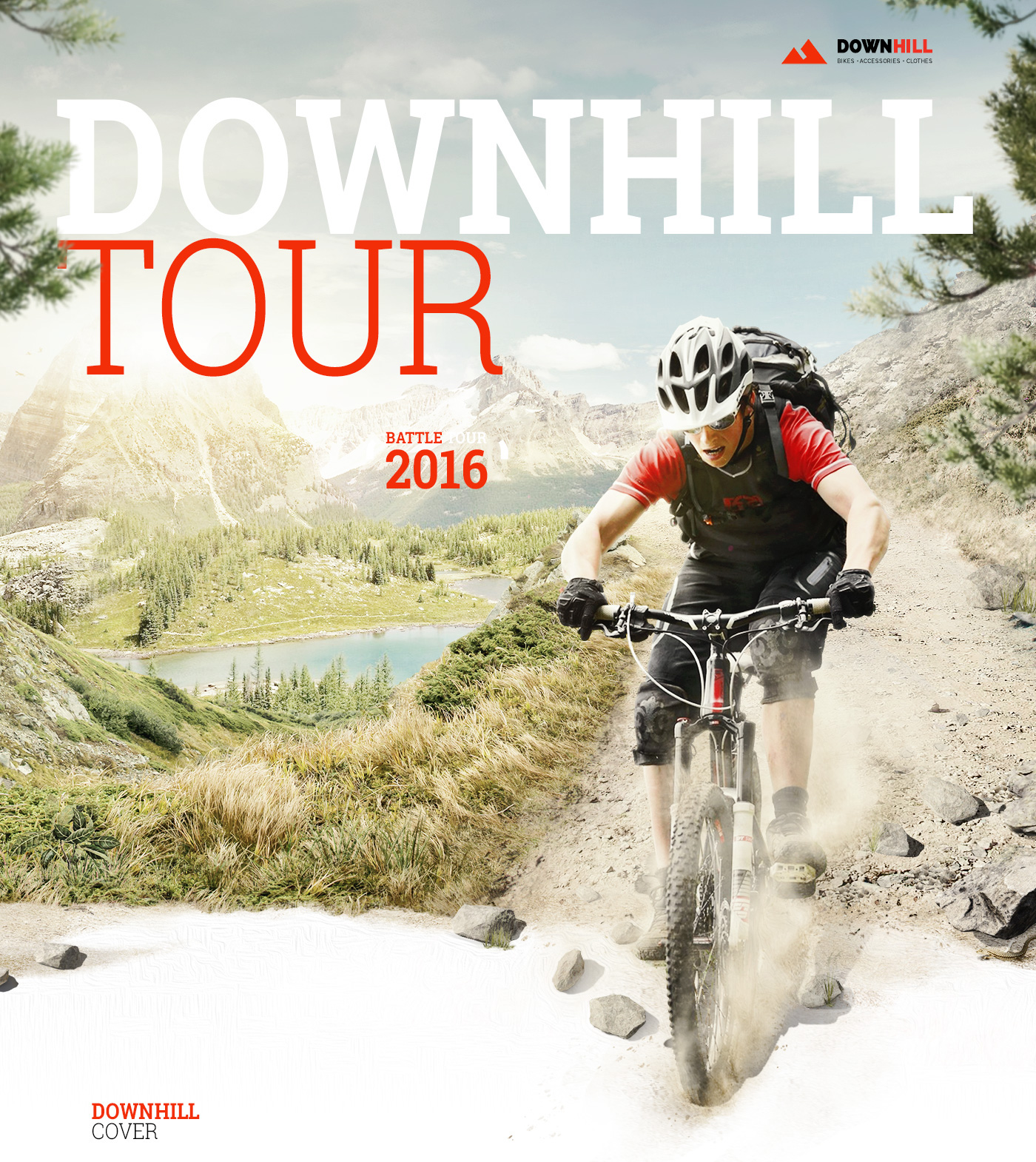 Bike downhill sport bikers cyclist tour city shop store photomanipulation visual