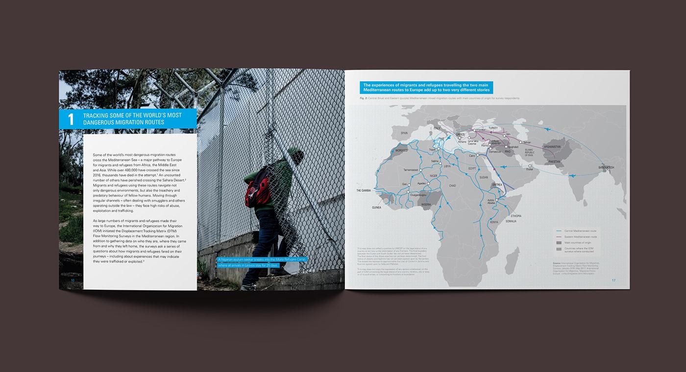 unicef infographic data viualisation annual report United Nations report design agca 信息设计 图形设计 平面设计