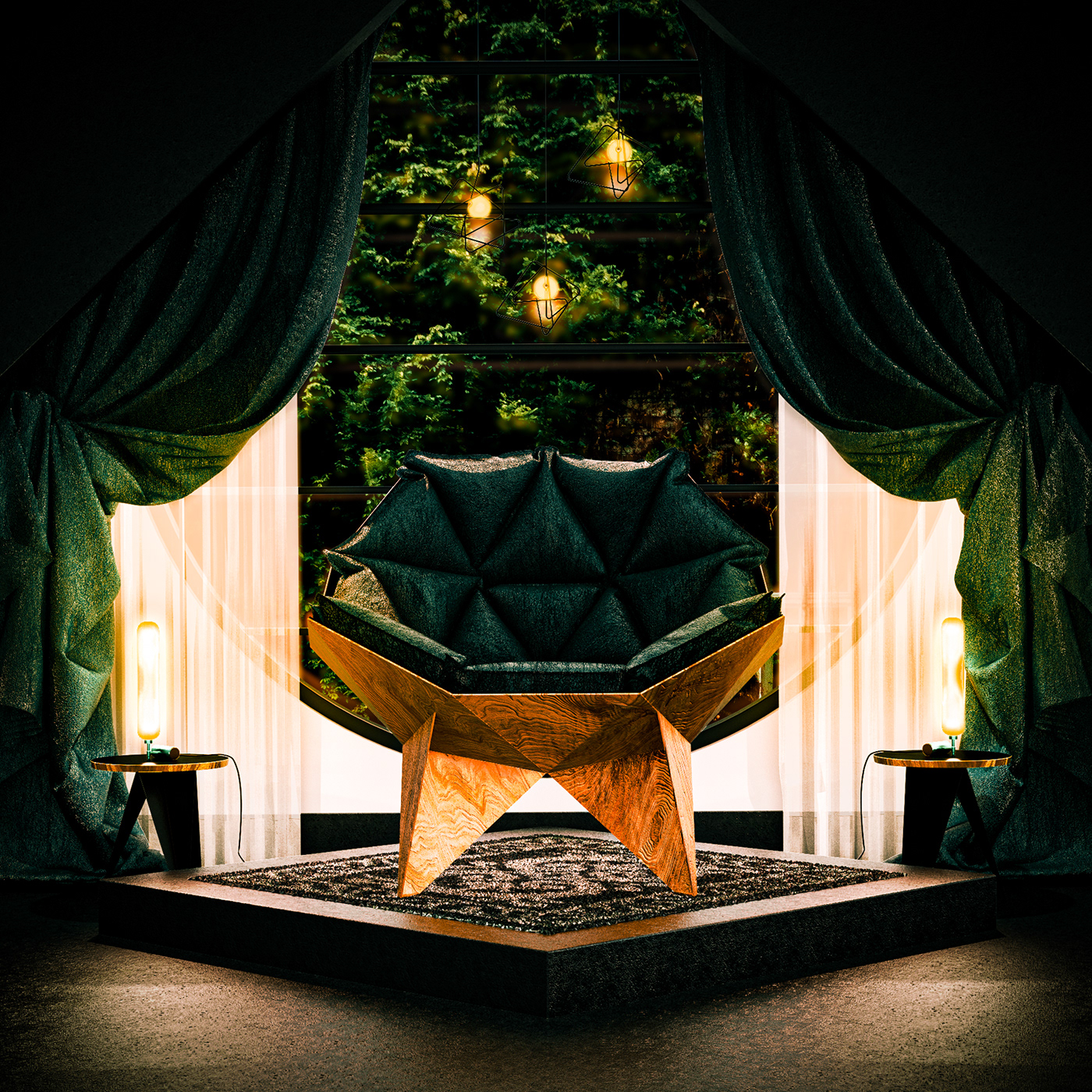Modern Nature - Concept Interior Design for a Modern Home.