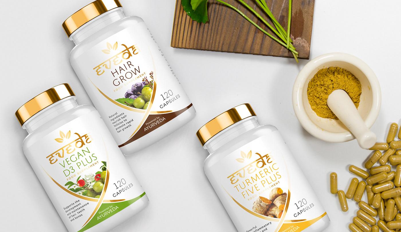 ayurveda natural dietary supplement Packaging pills
