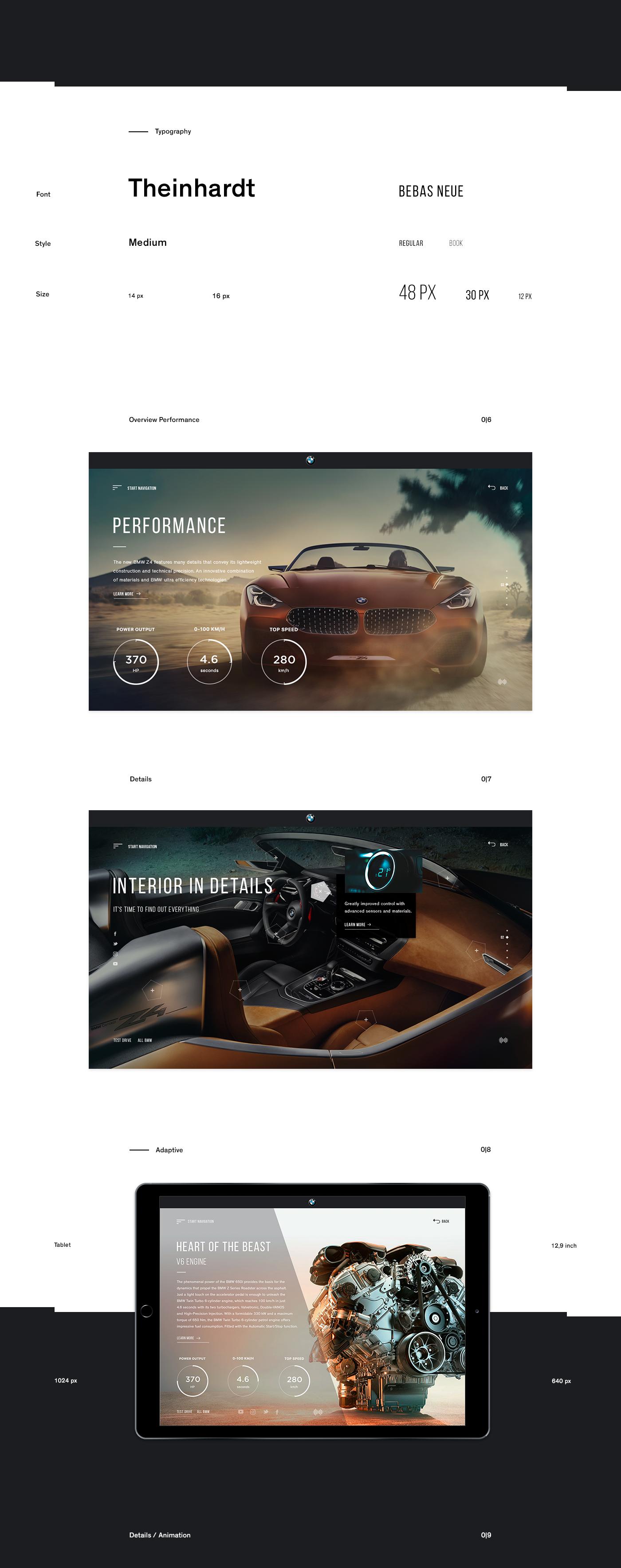 Webdesign Website car BMW concept UI ux UserInterface interaction promo