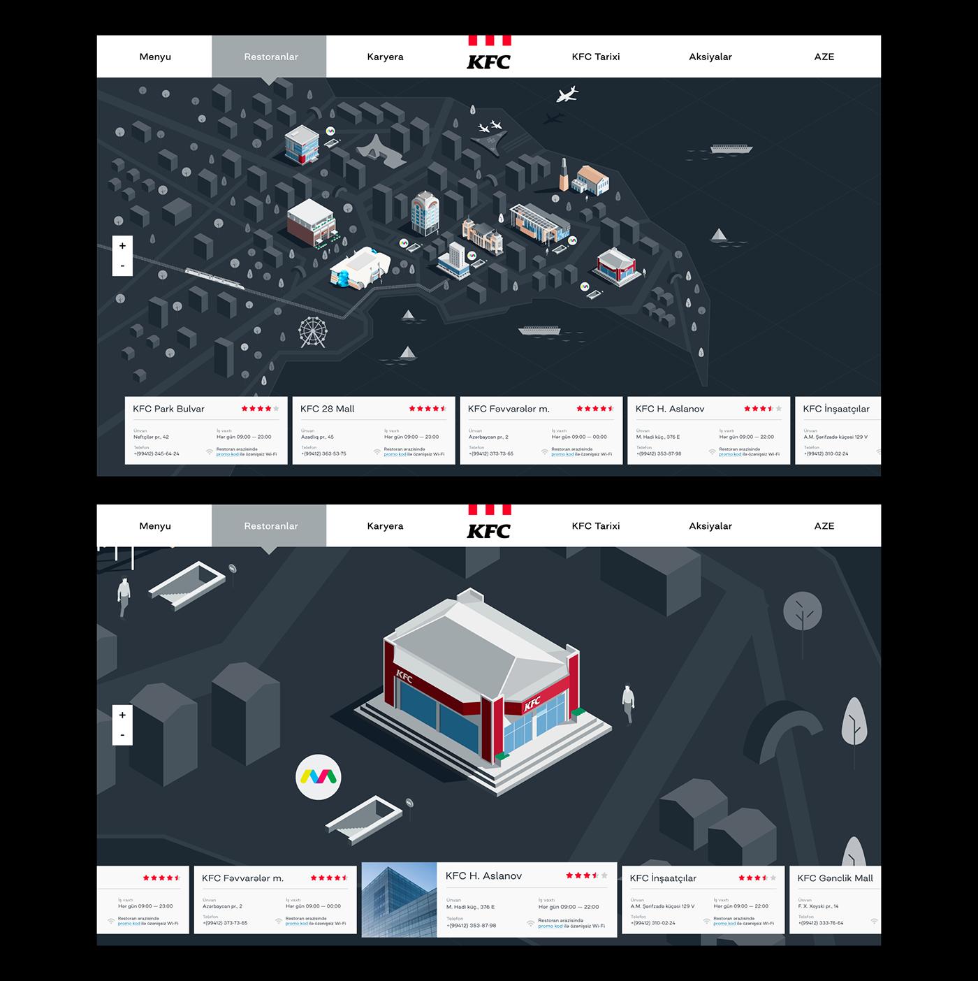 KFC,navigation,ILLUSTRATION ,information,Kiosk,branch,design,product,wayfinding,baku