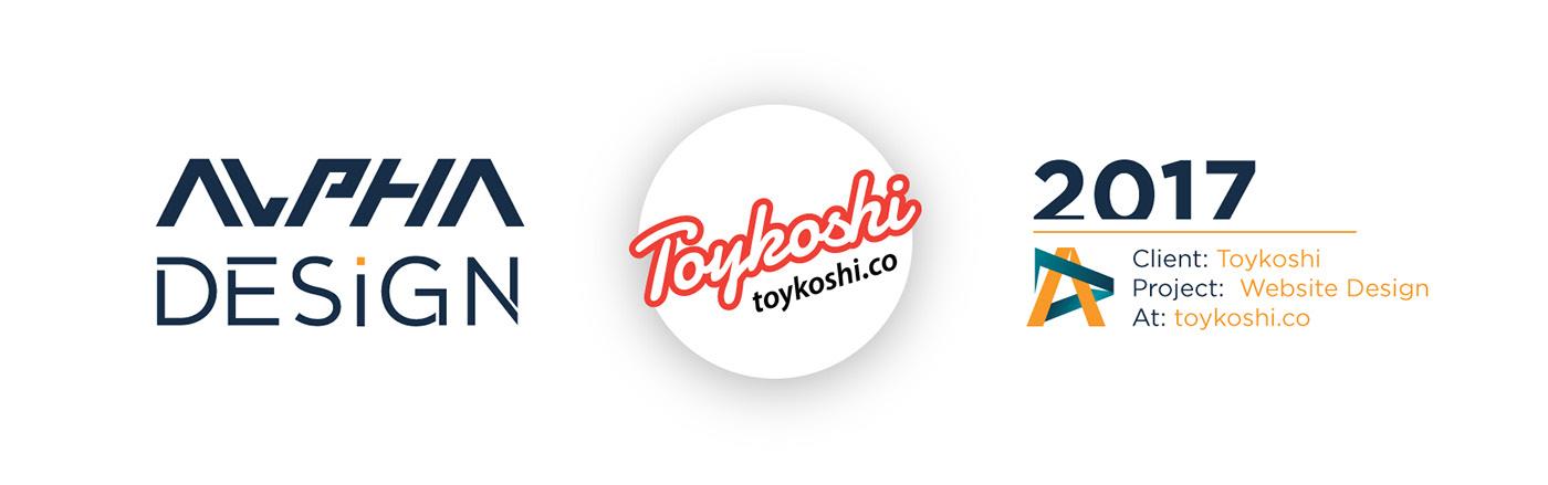 headwear patch design Toykoshi Website UI/UX online store sales