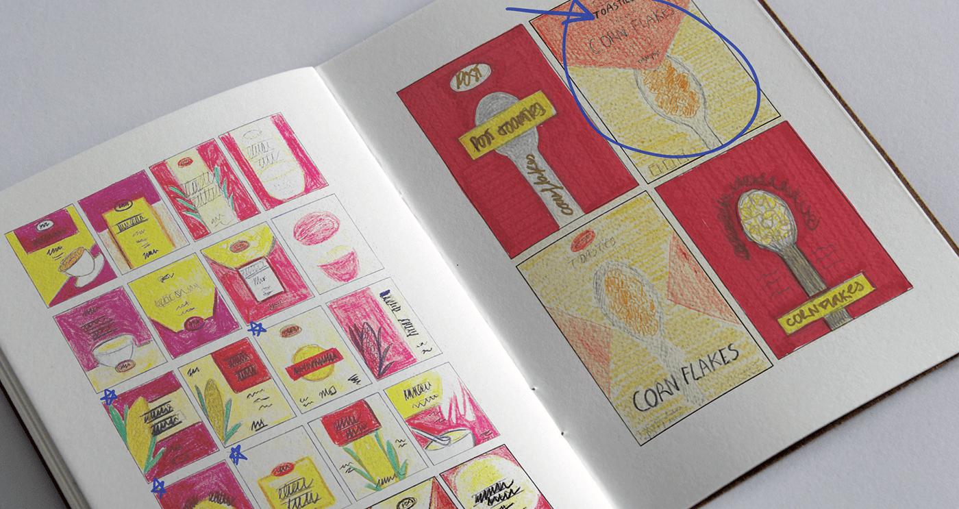 Cornflakes graphic design  ILLUSTRATION  Packaging post toasties product design  rebranding rediseño